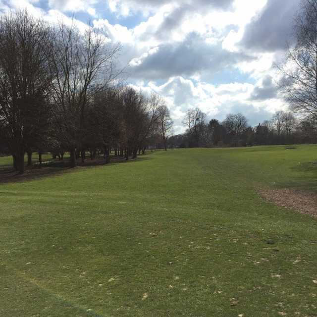 The fairway leading to the 3rd green at Colne Valley Golf Club