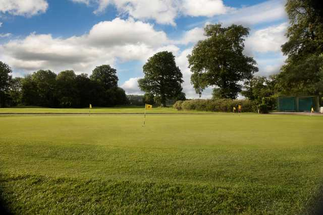 The practice area at Nizels Golf Club