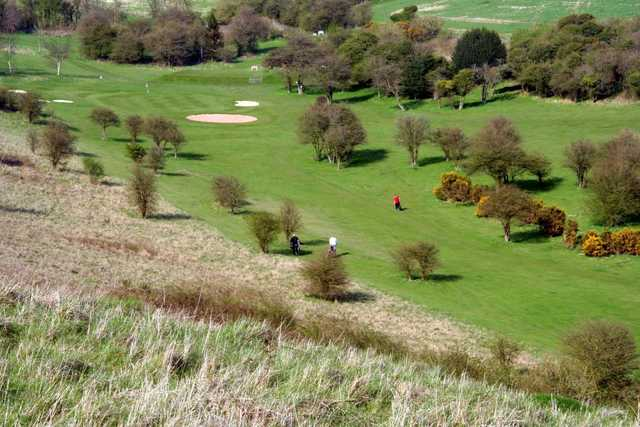 View of the the 8th hole at Brighton and Hove