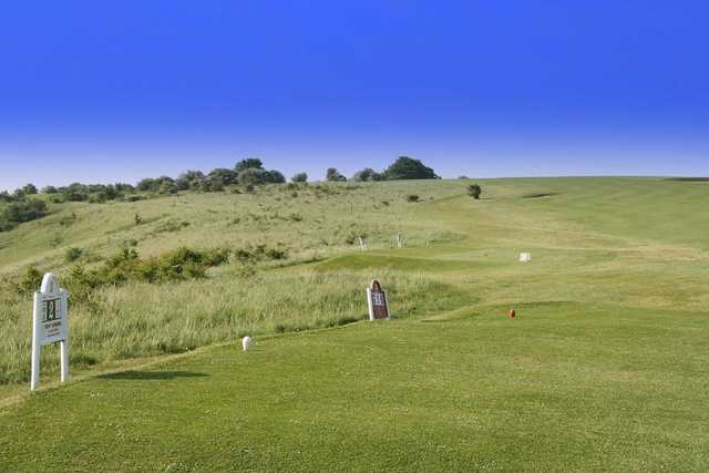 Brighton & Hove: 2nd fairway, uphill, where the coastal winds should be taken into consideration