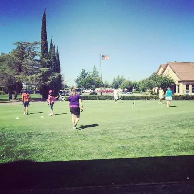 A view of the practice area at Lone Tree Golf Course