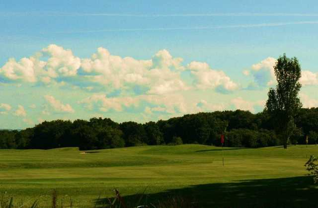 The 8th shows the high quality of the golf course at Foxbridge Golf Club.