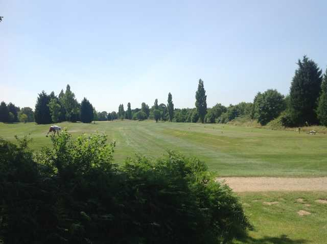 A scenic view of the 1st tee at Foxbridge Golf Club