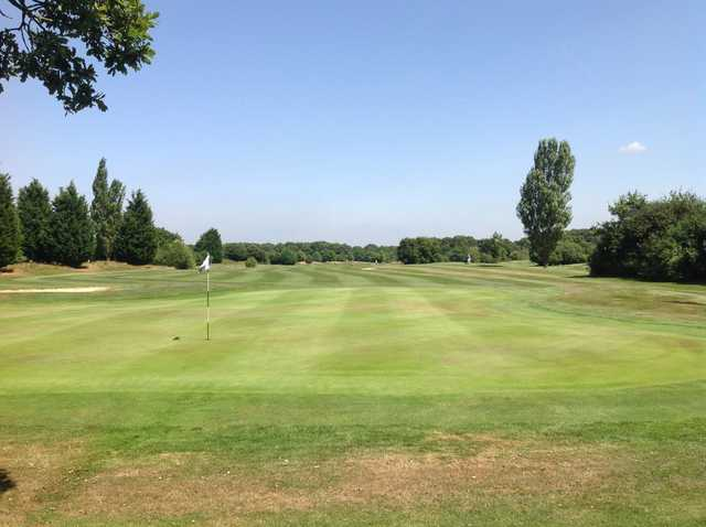 A beautiful view of the 8th green at Foxbridge Golf Club