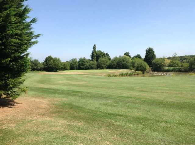 The approach to the 18th green at Foxbridge Golf Club