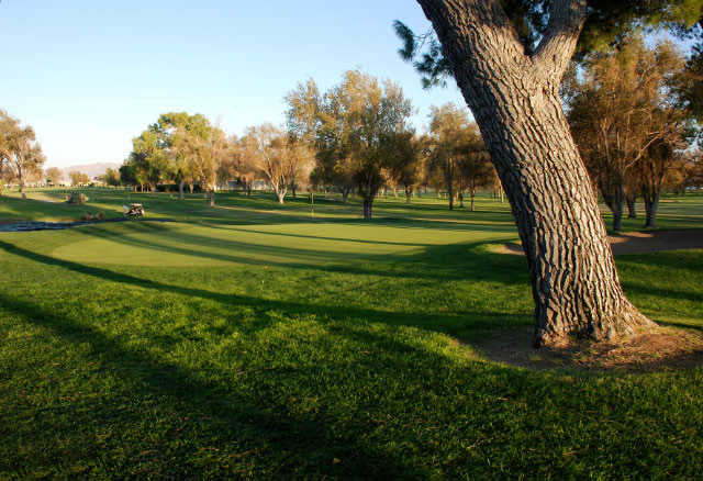 A view of the 2nd hole at Apple Valley Golf Course