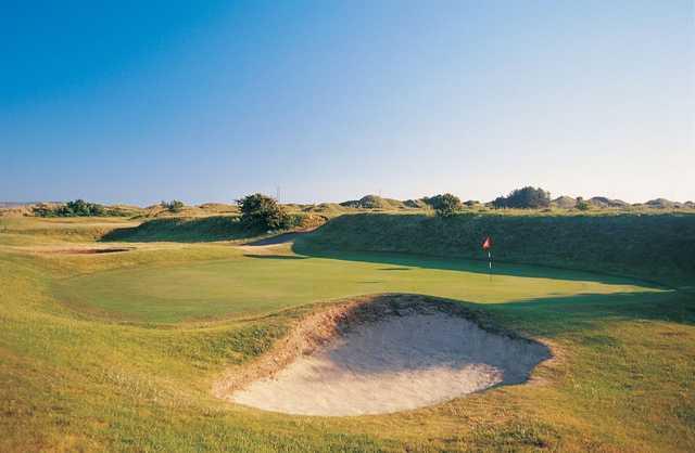 Testing green on the 16th hole at Ashburnham Golf Club