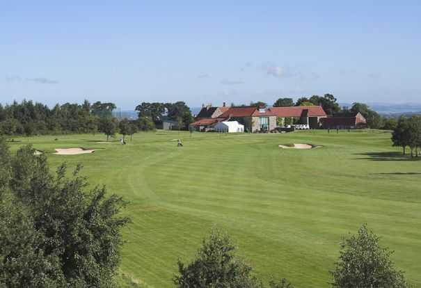 A view of the clubhouse at Abbey Hill Golf Centre