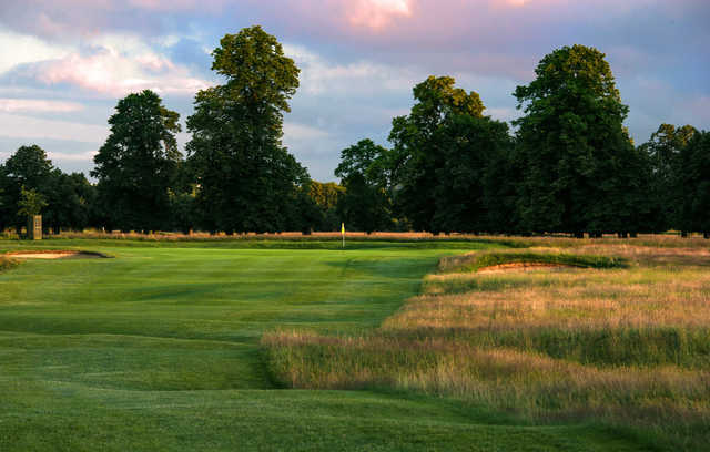 Beware the hidden bunkers leading to the green at Hampton Court