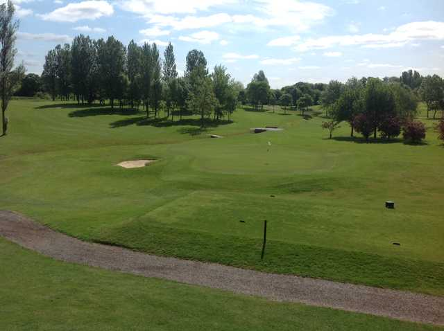 The view from the clubhouse at Radlett Park Golf Club