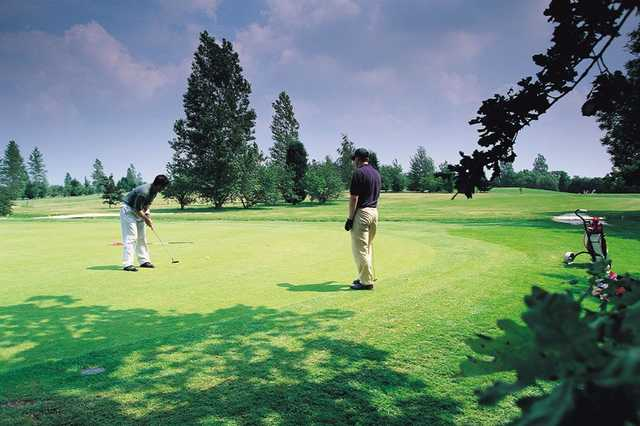 Golfers on the green at The Cambridgeshire Golf Club