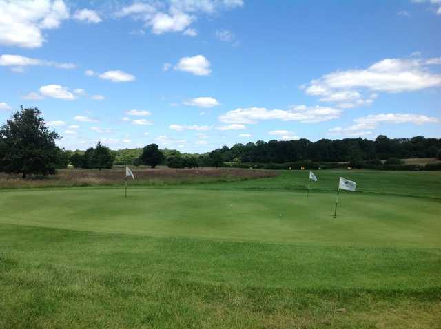 The chipping area at Merrist Wood Golf Club