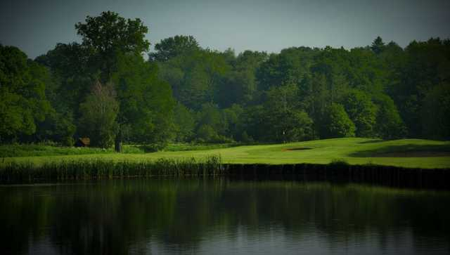 A view from the lake on the 5th at the Merrist Wood