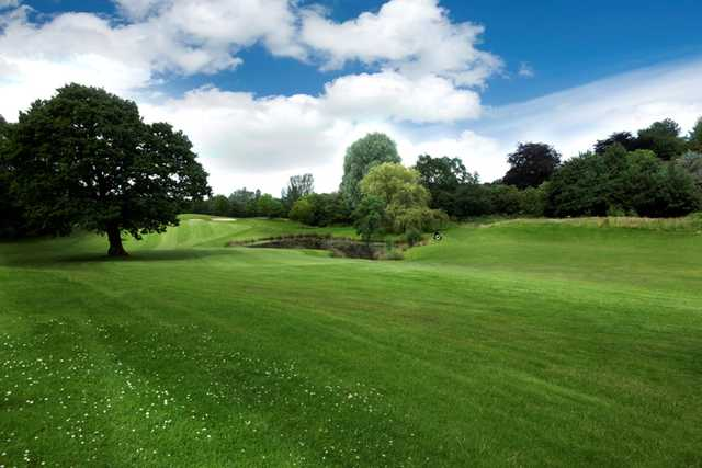 Picturesque view of the 10th hole at Tytherginton Golf Club