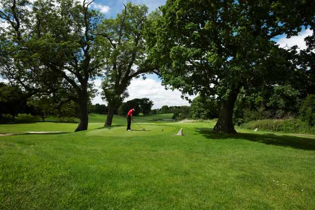 The 10th tee under the trees at Tytherginton Golf Club