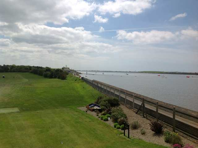 The view from the 1st tee on the Knott End Golf Course