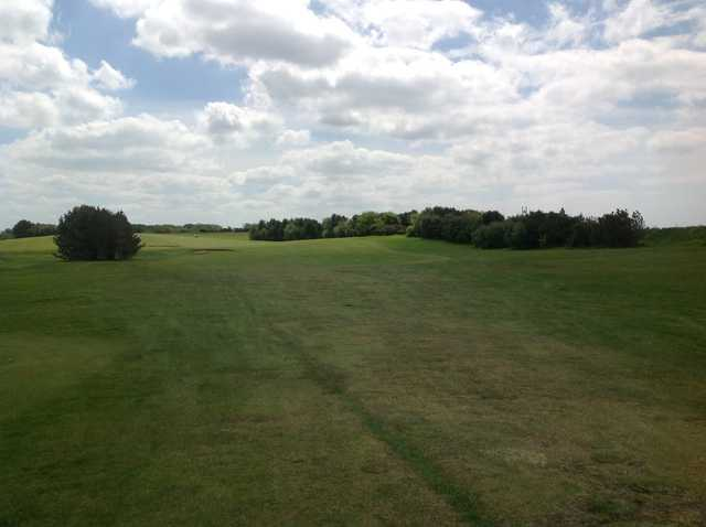 Looking down the 1st fairway at Knott End Golf Club