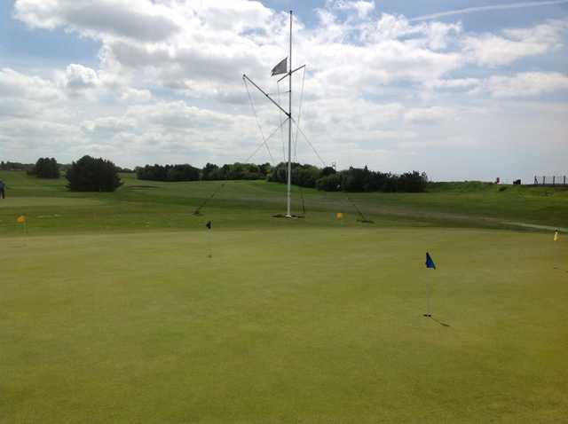 The putting green at Knott End Golf Club