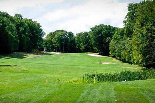 A view of fairway #8 at Paupack Hills Golf & Country Club