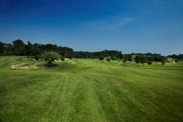 Breathtaking views dowm the 9th fairway on the Earls course at The Warwickshire