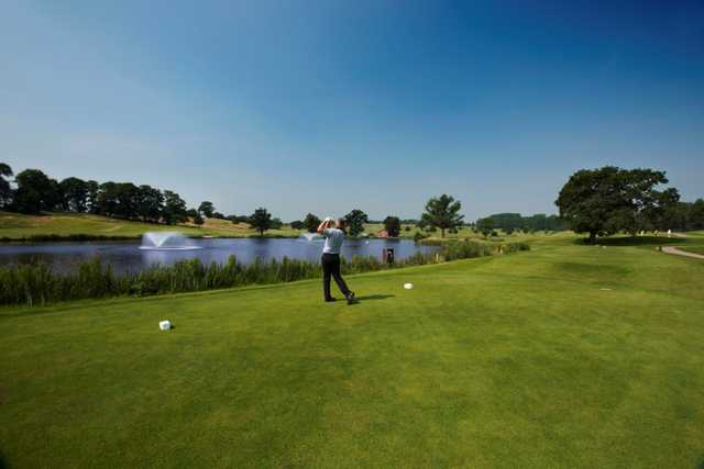 Scenic view from the 8th tee on the Kings Course at The Warwickshire Golf Club