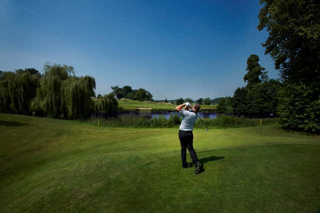 A view from the 17th tee on the Kings course at The Warwickshire