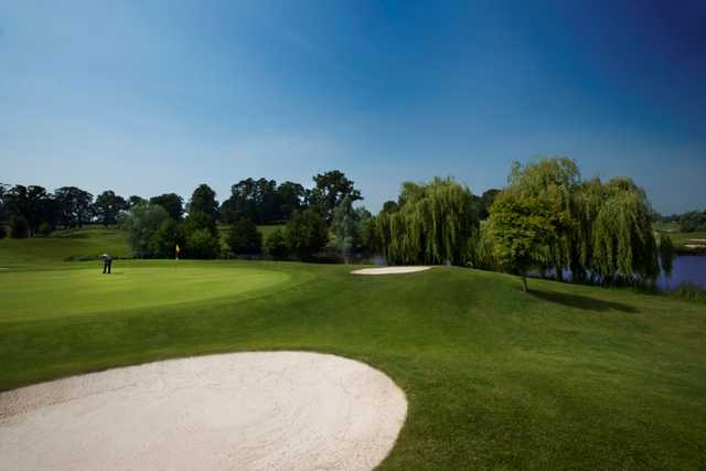 The stunning 16th green on the Kings course at The Warwickshire Golf Club