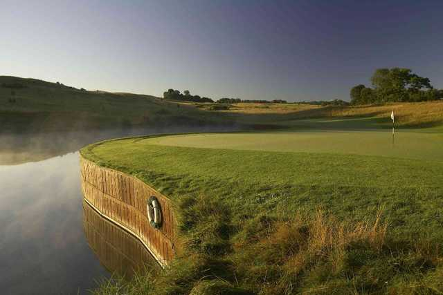 The International Course 12th hole and its ever-present water hazard