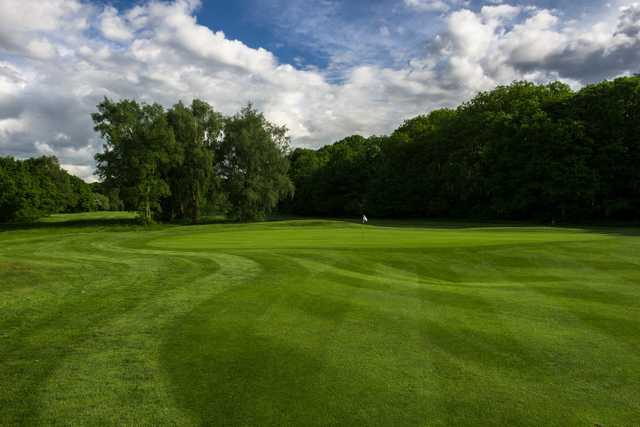 The well-kept greens at Addington Court Golf Centre