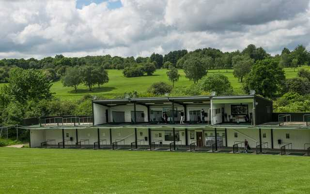 The driving range at Addington Court Golf Centre
