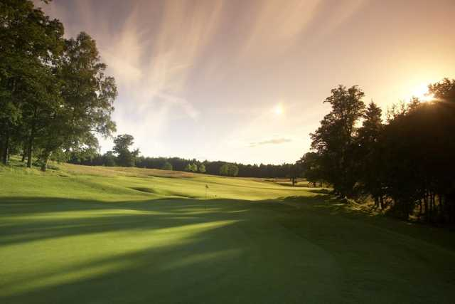Fairway view with sunset at PGA Bowood - England
