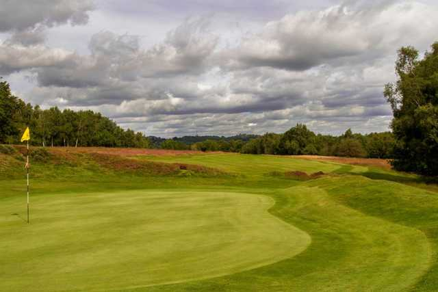 A look at the manicured 8th green found on the Old course at Royal Ashdown Forest Golf Club.