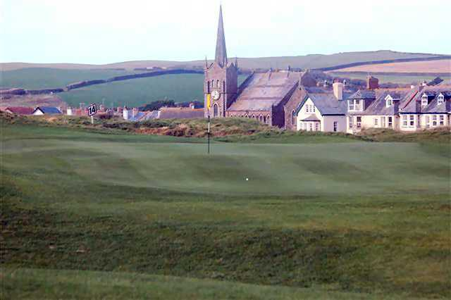 The Church hole on the Bude golf course