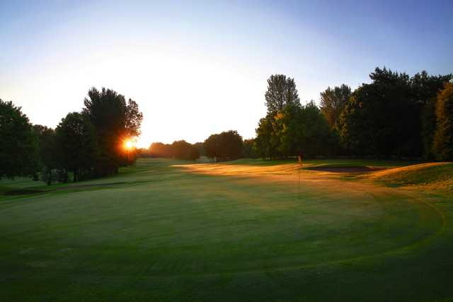 Sunset on the Emerald Course