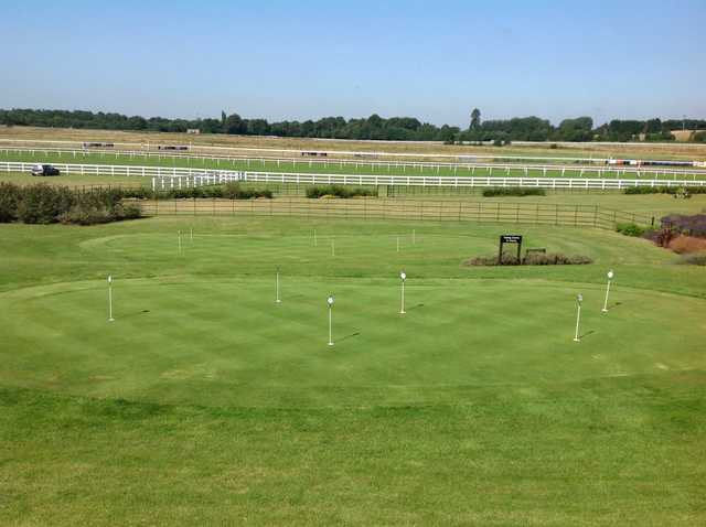 Scenic View of the putting green at Lingfield Park Golf Club