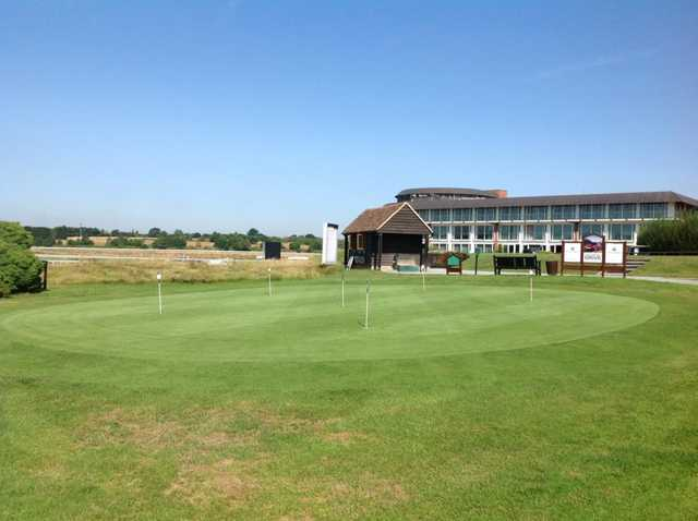 The putting area at Lingfield Park Golf Club