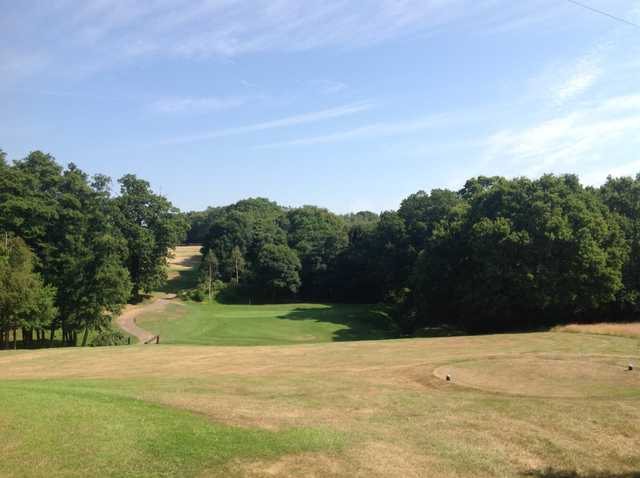 The approach to the 10th hole at Hamptworth Golf Club