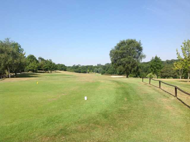 View from the first tee and beautiful surroundings trees at Hamptworth Golf Club