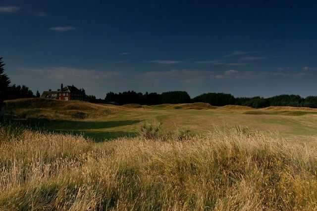 Be cautious of the rough on the 1st hole at Hesketh Golf Club