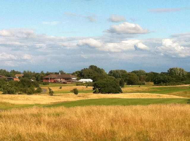 A look across the course at Hurlston Hall Golf Club