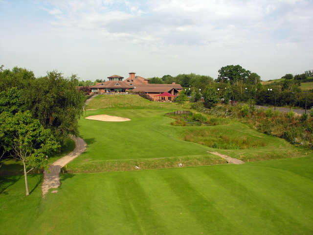 The 18th fairway leading to the clubhouse at the Abbey Hotel Golf and Country Club