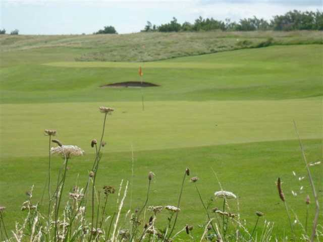 One of the well kept greens at Hythe Golf Club
