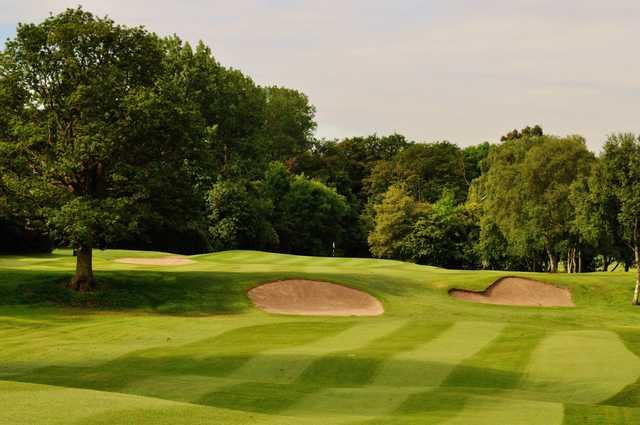 The raised 4th green at Edgbaston Golf Club