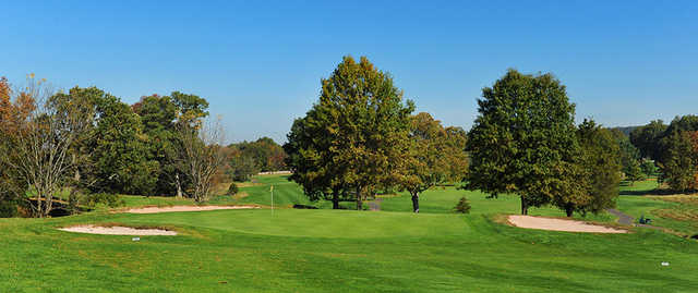 View of green #10 at Green Knoll Golf Course