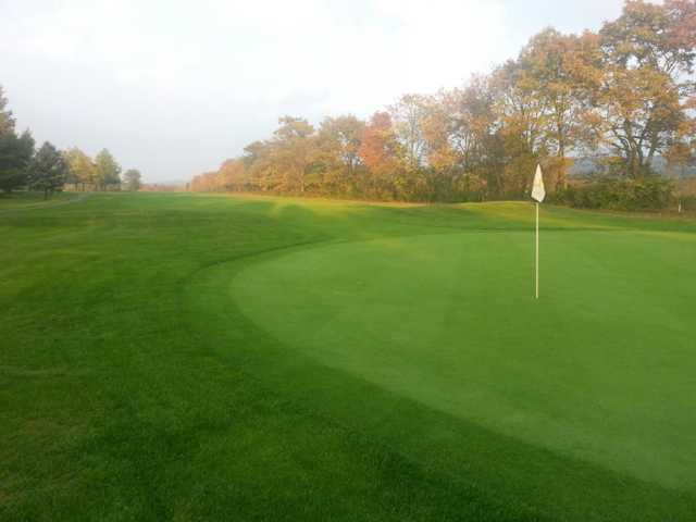 Fall view of a green at Hillsborough Country Club