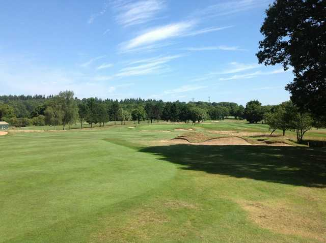 Scenic view of the 17th hole at Leatherhead Golf Club