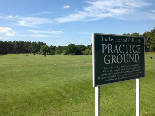 The practice ground at Leatherhead Golf Club