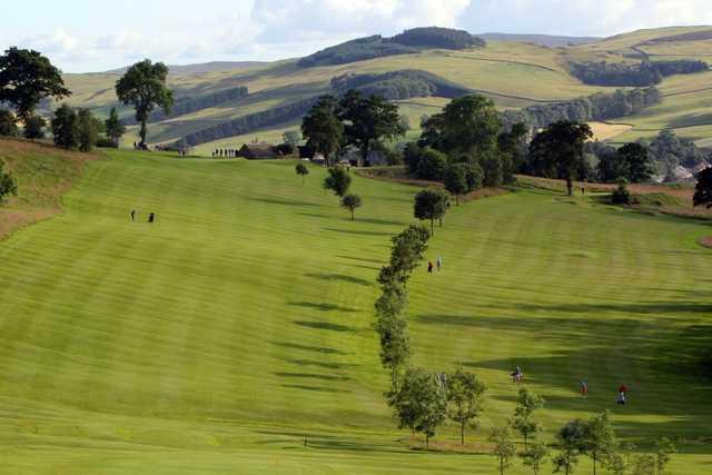 View from Galashiels Golf Club