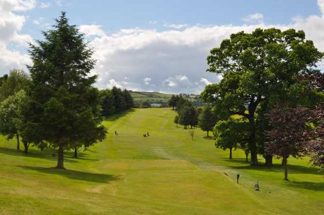 A view down the fairway at Dumfries & Galloway Golf Club