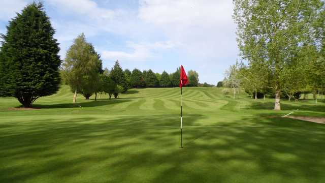 A look back from the green at Hirsel Golf Club